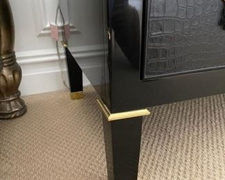 Ralph Lauren bedroom end tables feet