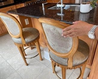 two swivel counter stools