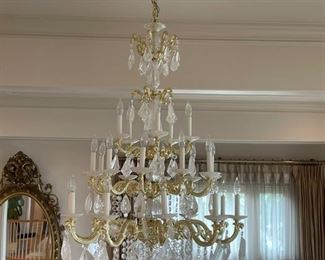 42 inches wide chandlier crystal