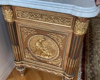 Side view of the cabinet