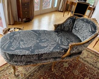 "Chaise Lounger reupholster by Dedar Fabrics ""Tiger Mountain Fabric"