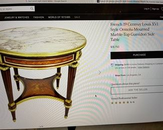 similar table on line now $18,750