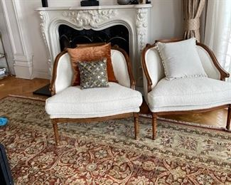 two oversized chairs