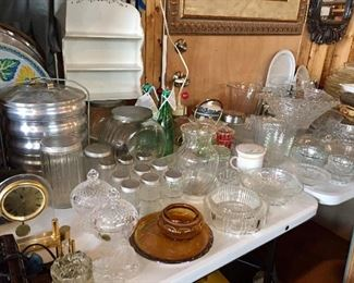 Glass serving pieces