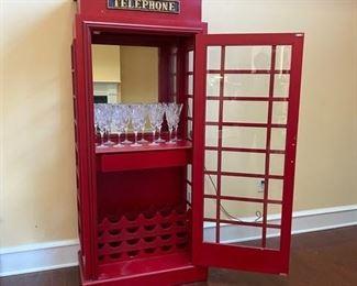 "British ""Telephone Booth"" Bar"