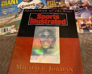 MICHAEL JORDAN: MAGAZINE, BASEBALL, BASKETBALL CARDS