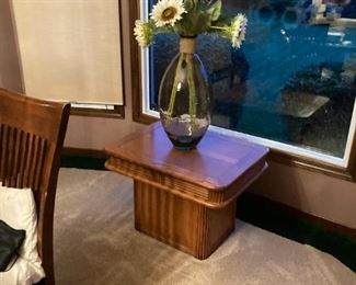 . . . a nice accent vase on mid-century table