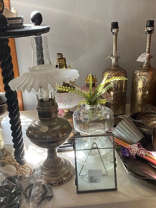 Lamps- converted oil lamps
