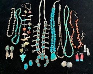 Some of the Native American jewelry pieces