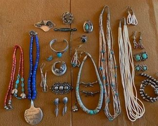 More Native American, vintage Taxco and Danish pieces