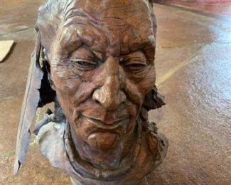 'Blackfoot' ceramic bust