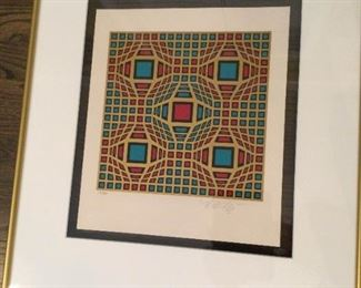 Victor Vasarely Lithograph Signed Numbered