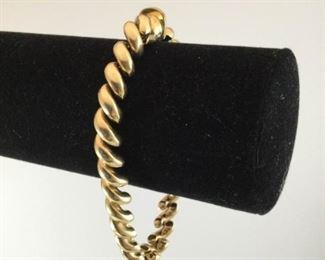 14k Gold 7in Macaroni Link Bracelet