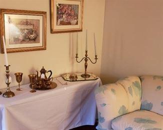 Candlesticks, tea set, art