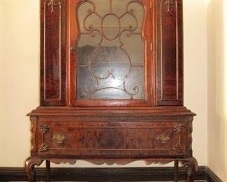 "Chippendale Queen Ann   $375  stunning veneer in precious wood, 42W by 66""H"