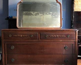 Dresser with mirror $425  52W, 23D, 36H