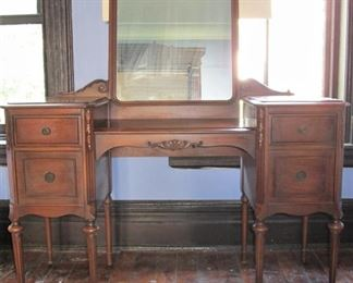 Dressing Table with mirror$325,   50W, 32H, 18D