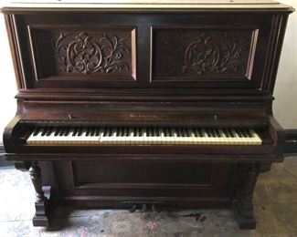 Piano best offer, Behning & Sons, Serial #28168,  carved paneling, ivory keyboard