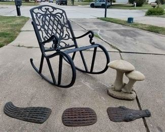 Chair and Lawn Decor