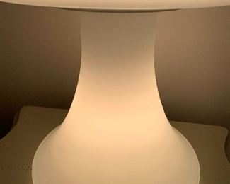 """Retro Frosted Glass Mushroom Lamp by the Laurel Lamp Co. Mid Century- Hollywood Regency Style. Measures about 25"""" h   Comes with a dimmer switch for mood lighting! What an amazing vintage lamp! WOW"""