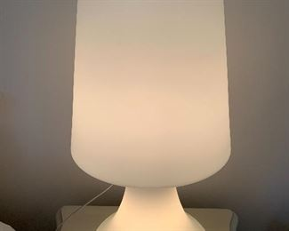 """Retro Frosted Glass Mushroom Lamp by the Laurel Lamp Co. Mid Century- Hollywood Regency Style. Measures about 25"""" h"""