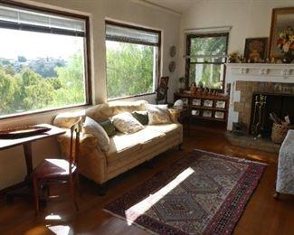 Sumac rug and sofa
