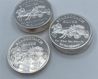 Stagecoach .999 silver divisible 1 oz. rounds