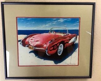 Rijo209 Robert Blumhagen Corvette Print