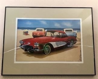 Rijo213 Signed Corvette Poster