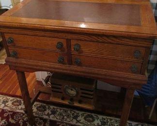 vintage oak shop desk top lifts