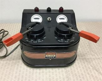 Extremely rare, vintage American Flyer Model Train power transformer