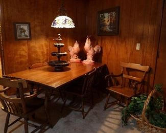 Maple Drop Leaf Table with 6 Chairs