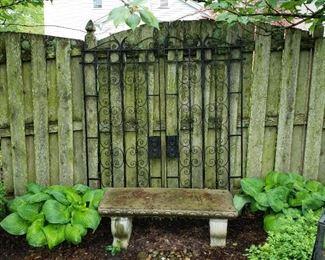 Antique iron garden gates