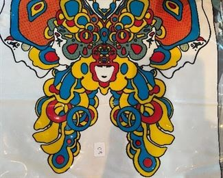 Tons of inflatable Peter max vinyl totes and pillows