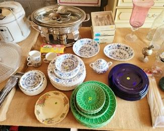 Vintage dishes, new small appliances