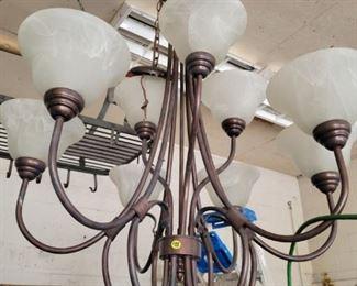 Multi light metal chandelier...new, never installed