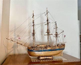 Endeavour ship model
