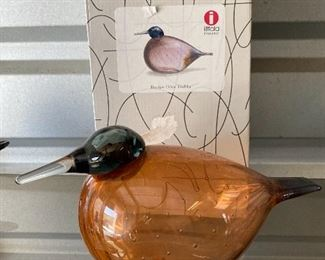 IITTALA hand blown glass bird
