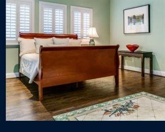 Lexington king-size sleigh bed