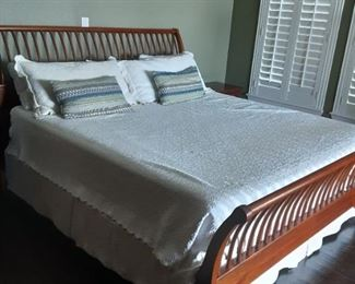 King Size Wood  bed by Kincaid, Ducks Unlimited