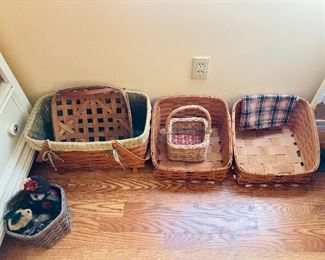 Peterboro baskets, some Longaberger