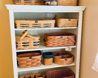 Cabinet is sold, baskets are available.