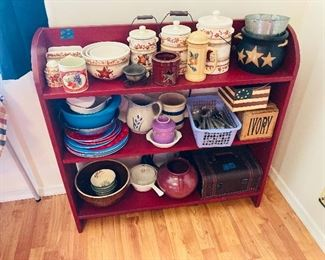 Shelf is sold, contents are available, Americana decor