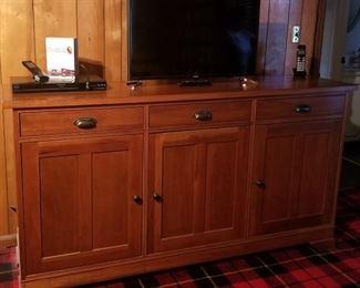 Restoration hardware cabinet.