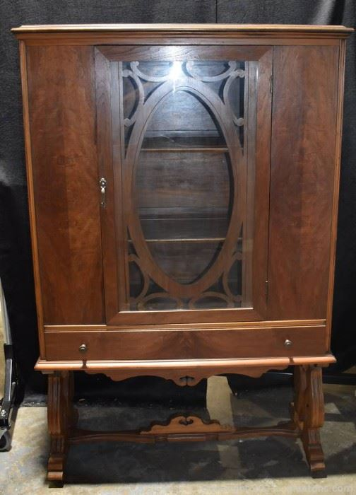 Antique Walnut Old Charm China Display Cabinet
