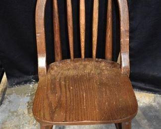 Old Oak Bendwood Spindle Back Side Chair