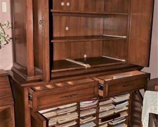Custom Music Cabinet Open