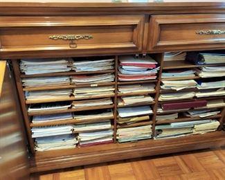 Custom Music Cabinet Sheet Musice Storage