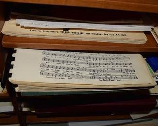 Custom Music Cabinet Sheet Music stoage drawers