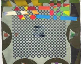 Alan Sheilds Untitled 1971 Mixed Media w/ Collage